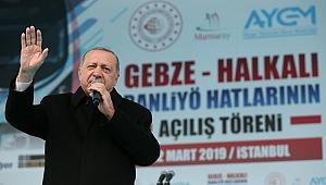 Erdoğan, Gebze - Halkalı hattının açılışını yaptı