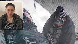 Mağazada hırsızlık yapan kadın güvenlik kamerasına yakalandı!