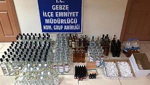 Şarküteride kaçak içkiler ele geçirildi