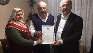 Tapusunu alan Eroğlu'na Büyükgöz'den ziyaret