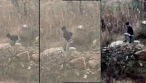 Uyuşturucuları zulalarken kameraya yakalandı