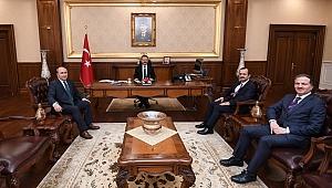 Başkan Vekili Çakmak, Vali Aksoy'u ziyaret etti