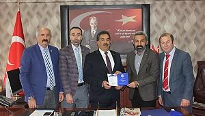 Erzurumlular,Kaymakam Güler'i ziyaret etti