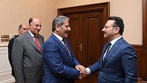 Erzurumlular,Vali Aksoy'u ziyaret etti