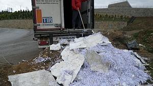 Gebze'ye kaçık atık dökerken yakalandılar