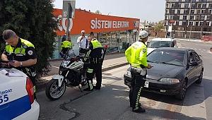 Kuralsız sürücüleri drone yakaladı,polis ceza kesti!