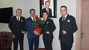 Murat Müdür, Kaymakam Güler'i ziyaret etti