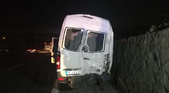 Taraftar minibüsü kaza yaptı: 10 yaralı