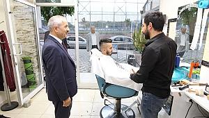 Başkan Büyükgöz'den esnaf turu