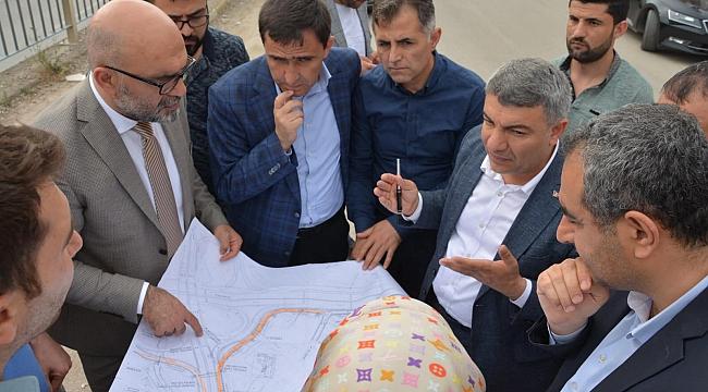 Başkan Şayir, çalışmaları yerinde inceledi