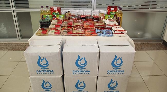 Çayırova'da ihtiyaç sahiplerine erzak yardımı