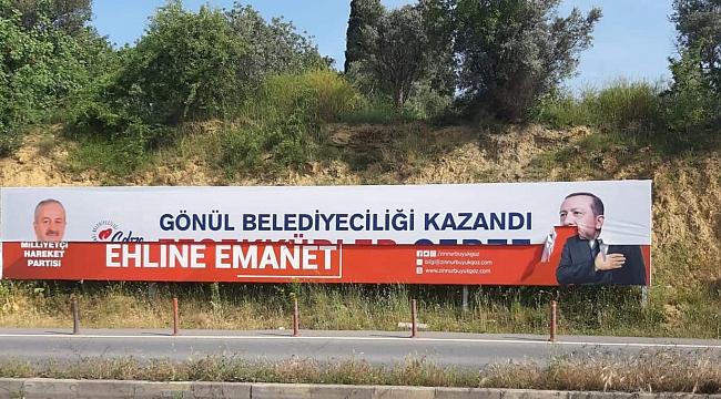 Erdoğan afişini yırttı, gözaltına alındı