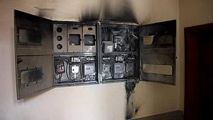 Fabrikada yanan elektrik panosu paniğe neden oldu!