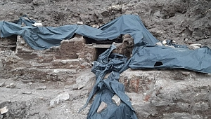 İnşaat kazısında tarihi yapıya ait kalıntılar bulundu