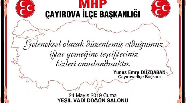 MHP Çayırova, Ülkücüleri iftarda buluşturacak