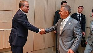 Yıldırım,Tataristan Cumhurbaşkanı ile buluştu