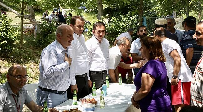 Başkan Bıyık, Darıcalılarla piknikte buluştu
