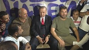 Erdoğan, Gebze-Harem şoförleriyle buluştu