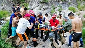 Gebze Ballıkayalar'da nefes kesen kurtarma operasyonu