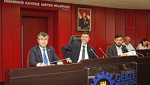 Gebze Belediyesinde Haziran ayı meclisi yapıldı