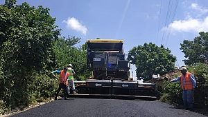 Köy yollarına 17 bin 650 ton asfalt seriliyor