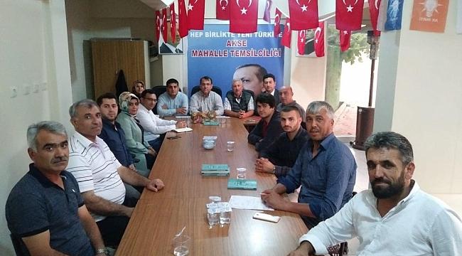 AK Parti Çayırova mahalle teşkilatı toplandı