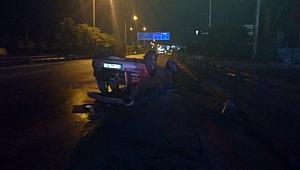 Ehliyetsiz ve alkollü sürücü kullandığı araçla kaza yaptı