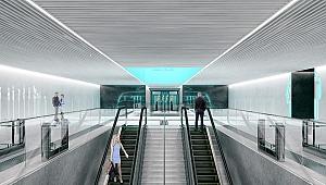 Metro hattında istasyon çalışmaları devam ediyor