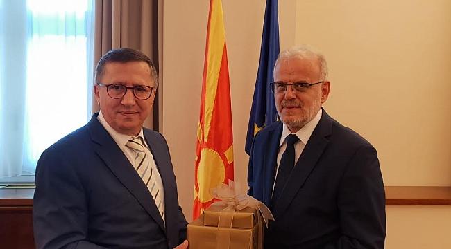 Türkkan başkanlığındaki İyi Parti heyeti Makedonya'da