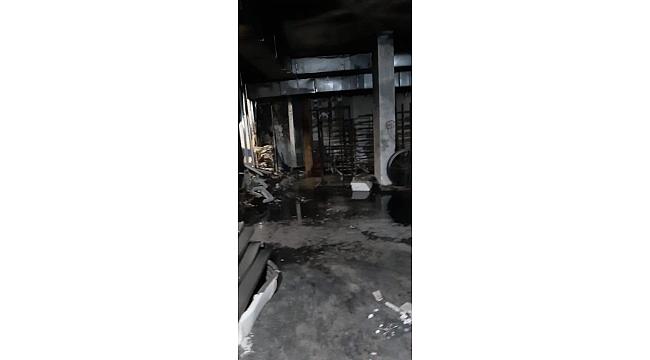 Ahmet Durak'ın iş yerinde korkutan yangın