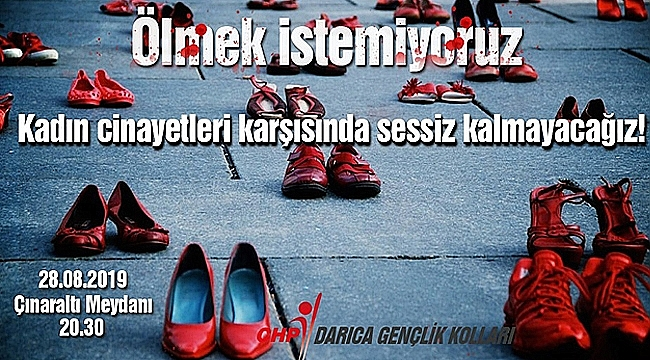 CHP'li gençler kadın cinayetleri için toplanacak
