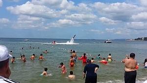 Darıca Halk Plajı'na yoğun ilgi!