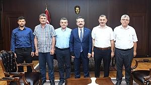 Gebzeli muhtarlar Vali Aksoy'a gittiler