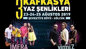 Kafkasya Yaz Şenlikleri'nde ünlü isimler sahne alacak