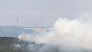 Kocaeli'den giden ekipler yangına müdahale etti!