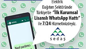 SEDAŞ WhatsApp Hattı ile Size Daha Yakın  0(530) 9 19 19 19