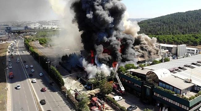 """AFAD'dan yangın açıklaması; """"Halk sağlığını tehdit eden bir durum yok"""""""