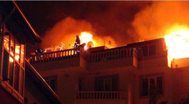 Gebze'de çatı yangını korkuttu