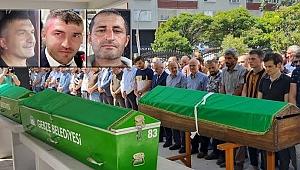 Kazada ölen Gebzeli 3 kişi toprağa verildi