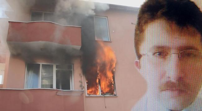 Evi ateşe verdikten sonra kızını öldürüp, intihar etmiş!
