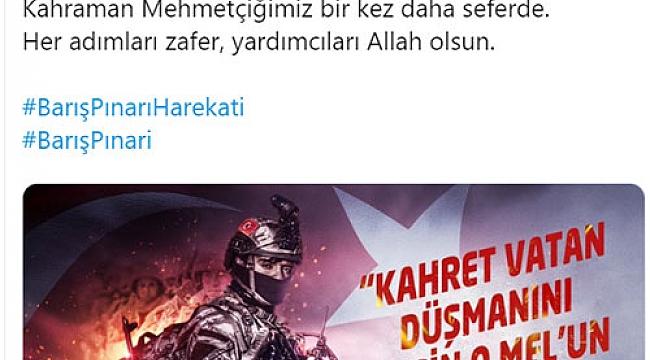 """Milletvekillerimiz ve yargı mensuplarımızdan """"Barış Pınarına"""" tam destek"""