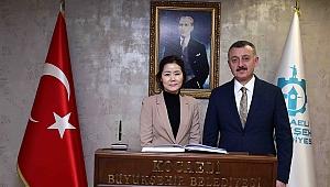 Başkan Büyükakın, Güney Kore Başkonsolosunu ağırladı