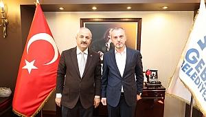 Büyükgöz Genel Başkan Yardımcısı Erkan Kandemir'i makamında ağırladı