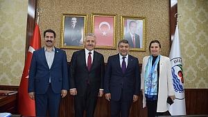Eski Bakan'dan Başkan Şayir'e ziyaret