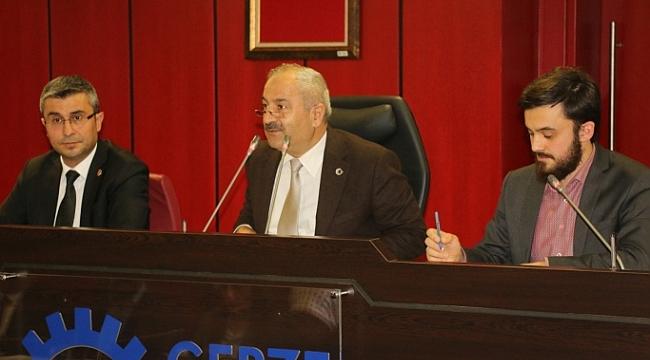 Gebze Belediyesi toplandı