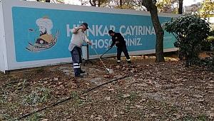 Hünkar Çayırı'nda temizlik ve ağaç bakımı yapıldı