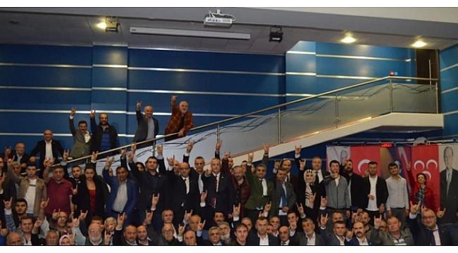 MHP Gebze'de yeni üyelere rozet takıldı