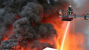 Döküm fabrikasında çıkan yangın korkuttu!