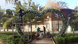 Gebze'de Parklarda çiçeklendirme çalışmaları