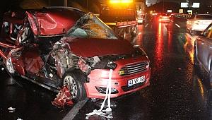 Kamyonla ticari aracın çarpışması sonucu 1 kişi öldü